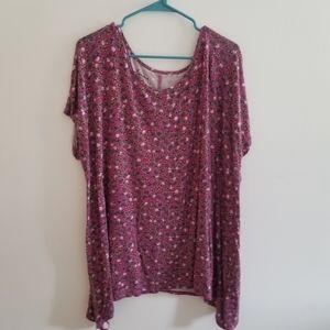 Purple Floral Shirt 3x